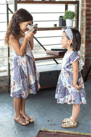 Mimi & Maggie Butterfly Sleeve Girls Dress