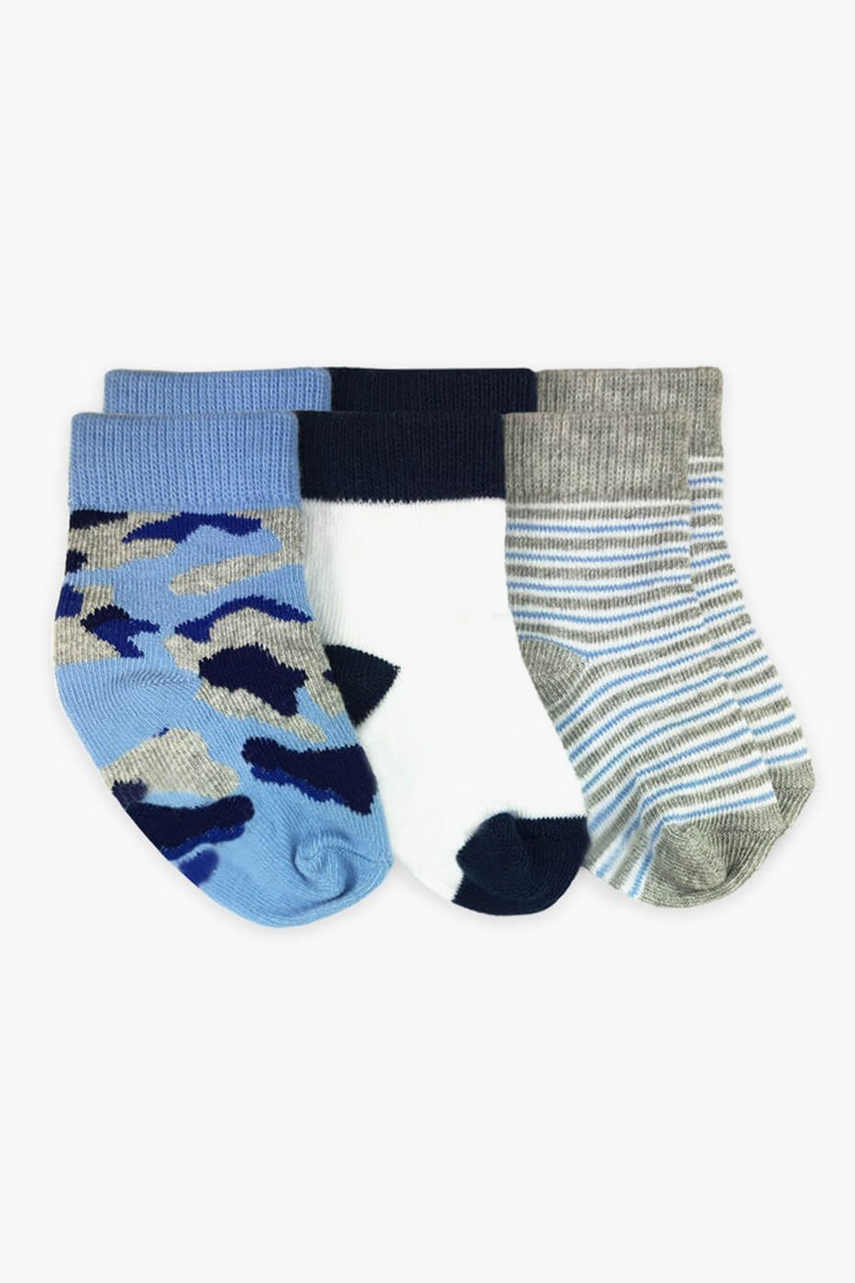 Jefferies Socks Camo Baby Socks 3-Pack