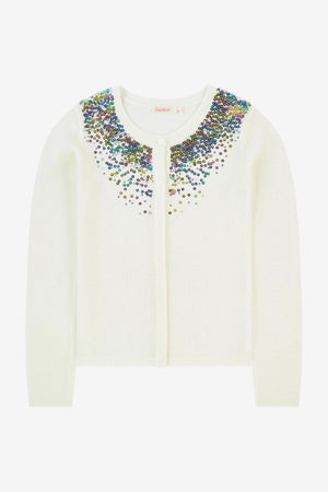 Billieblush Sequin Embroidered Cardigan