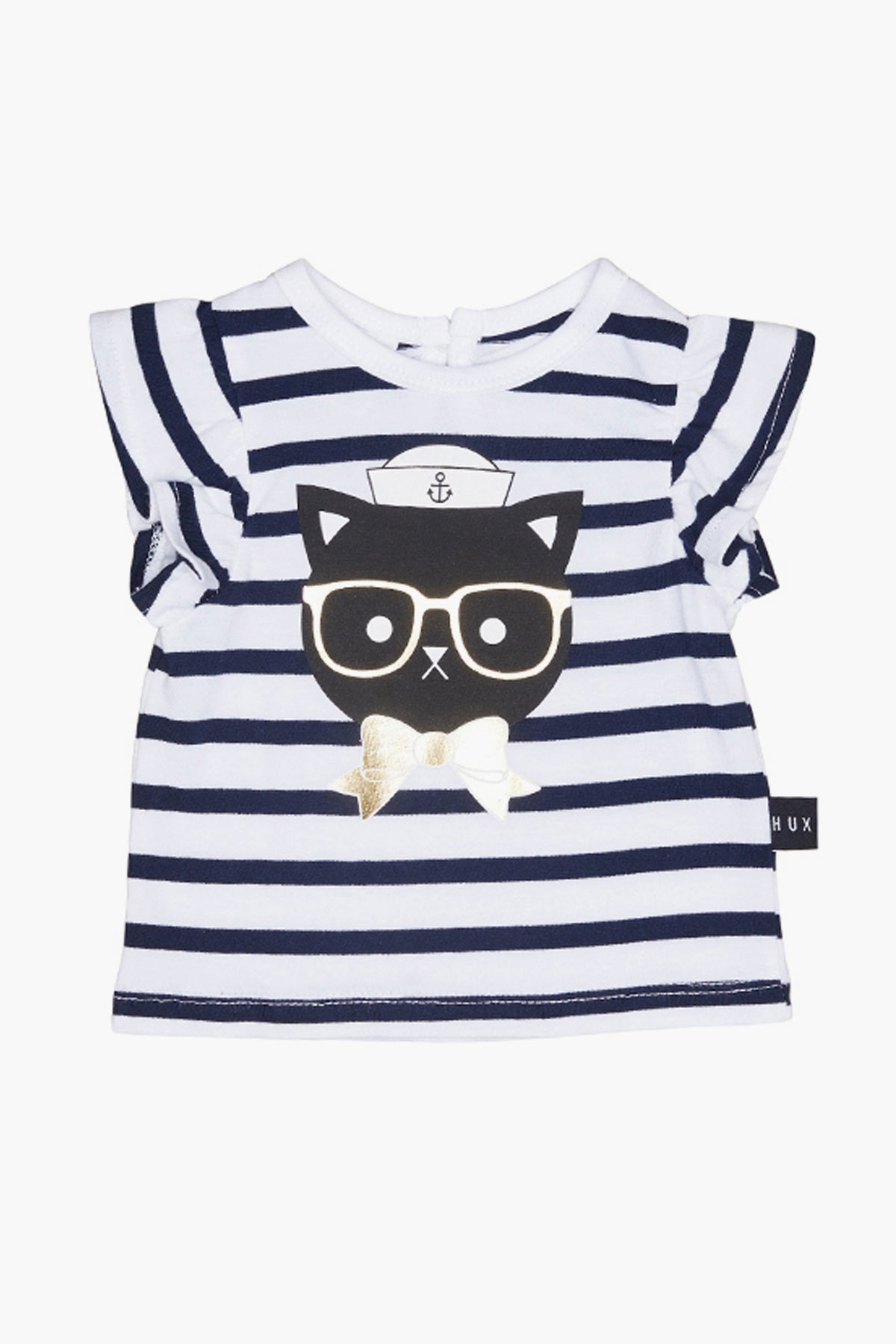 Huxbaby Sailor Cat Frill Top