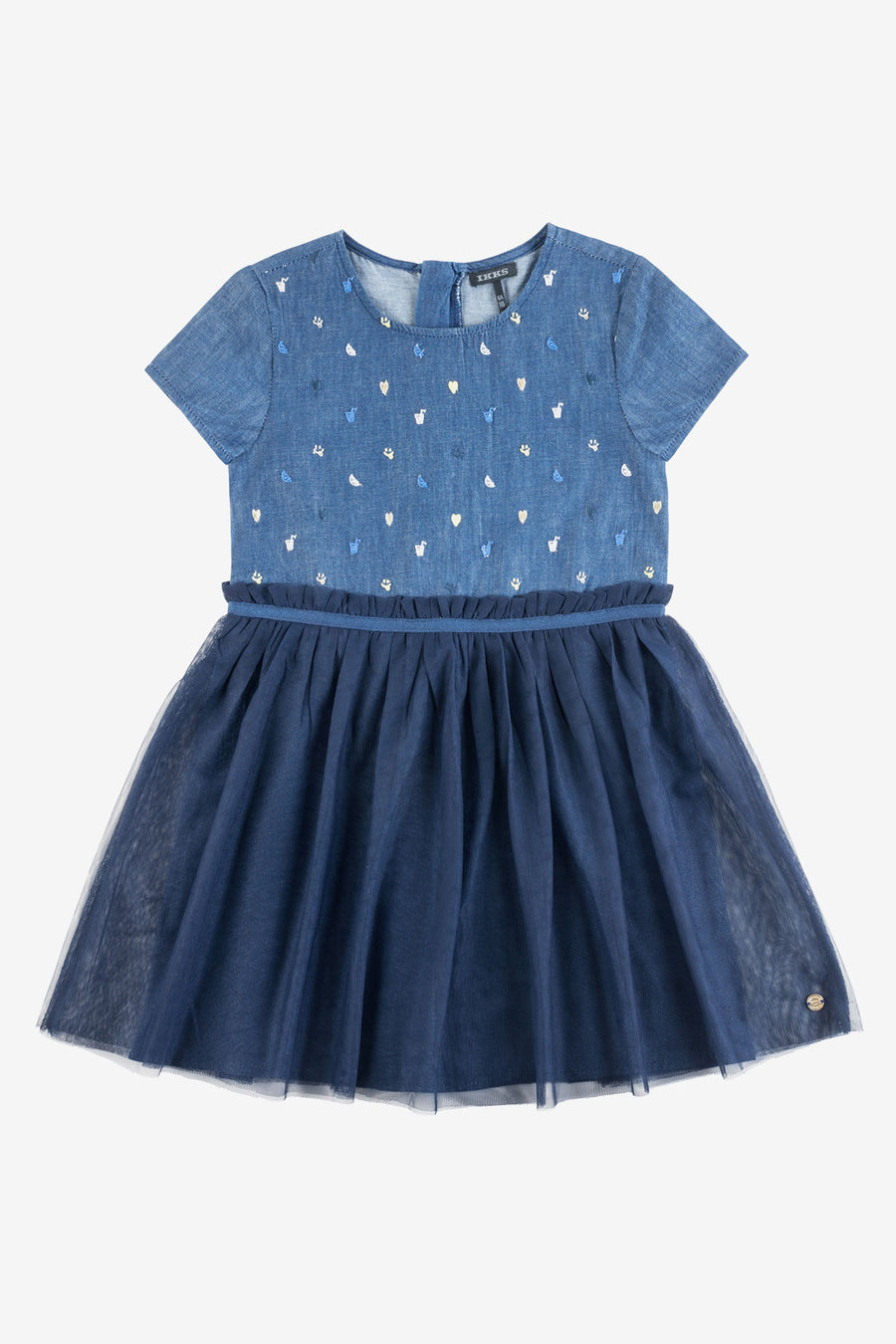 IKKS Chambray and Tulle Dress