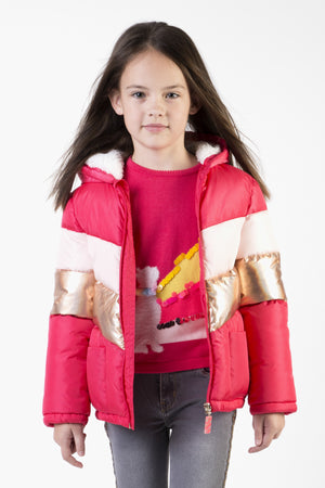 Billieblush Berry Puffer Girls Jacket