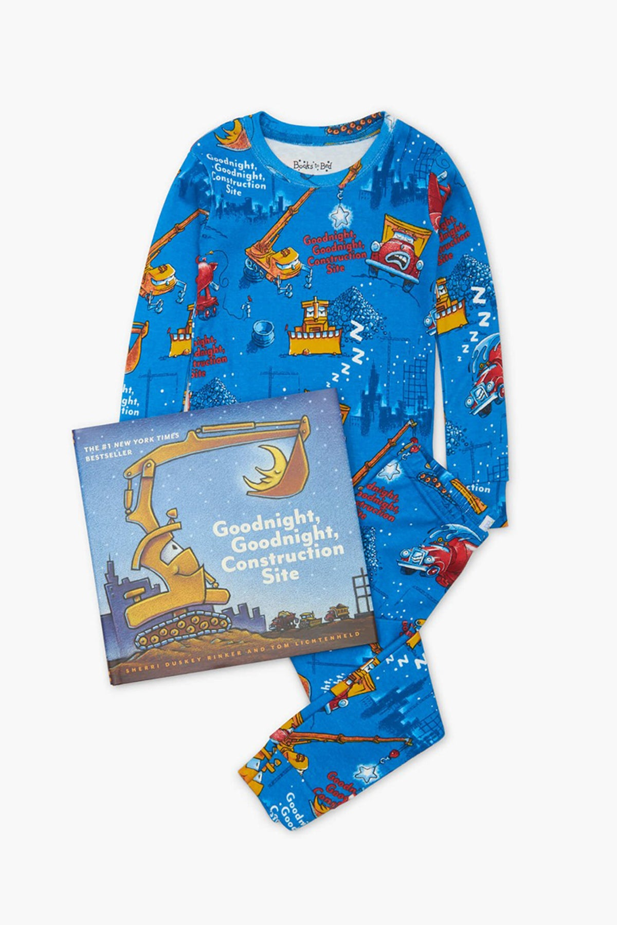 Books To Bed Goodnight Construction Site Kids Pajamas and Book Set
