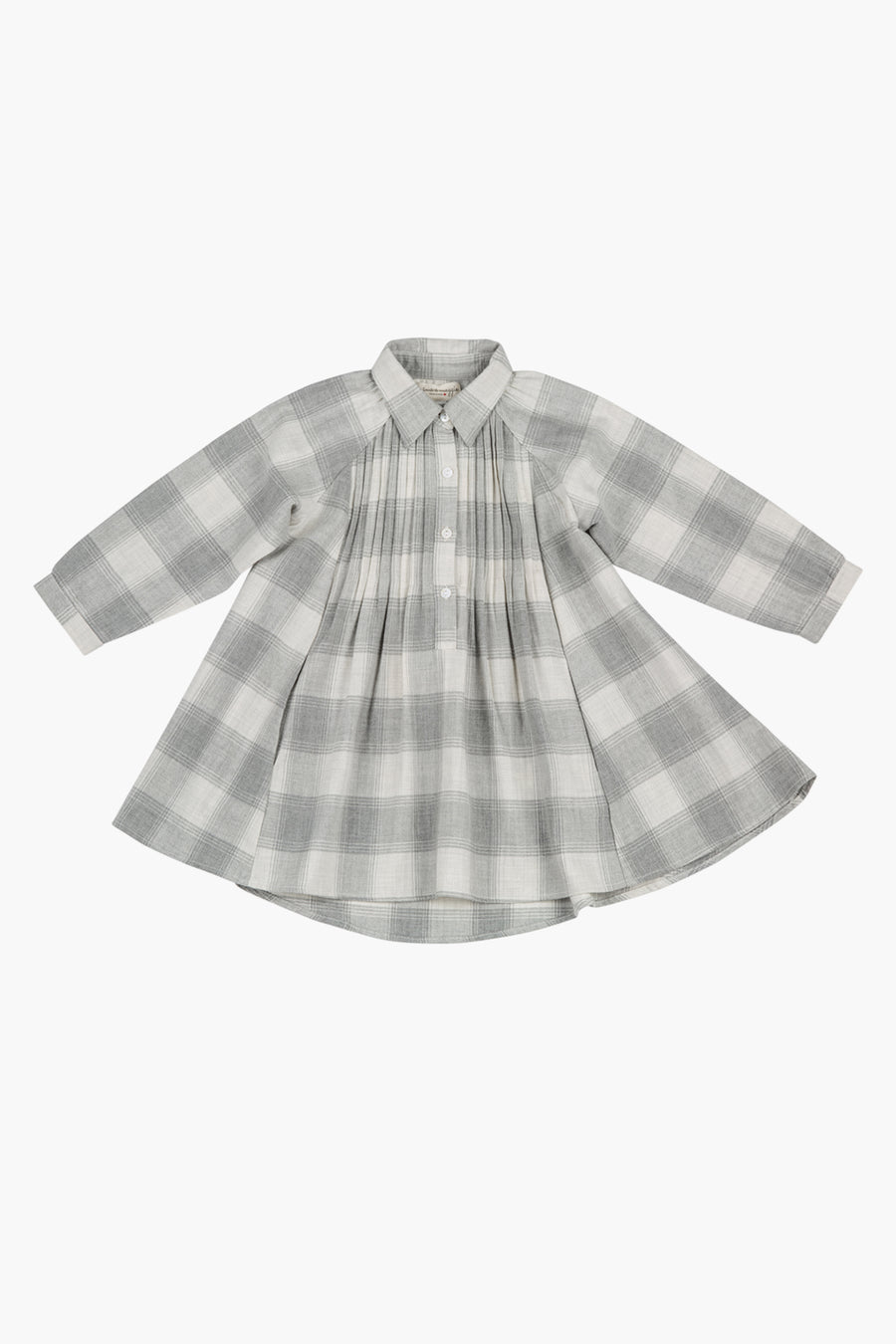 Mimi and Maggie Cozy Plaid Swing Dress - Grey