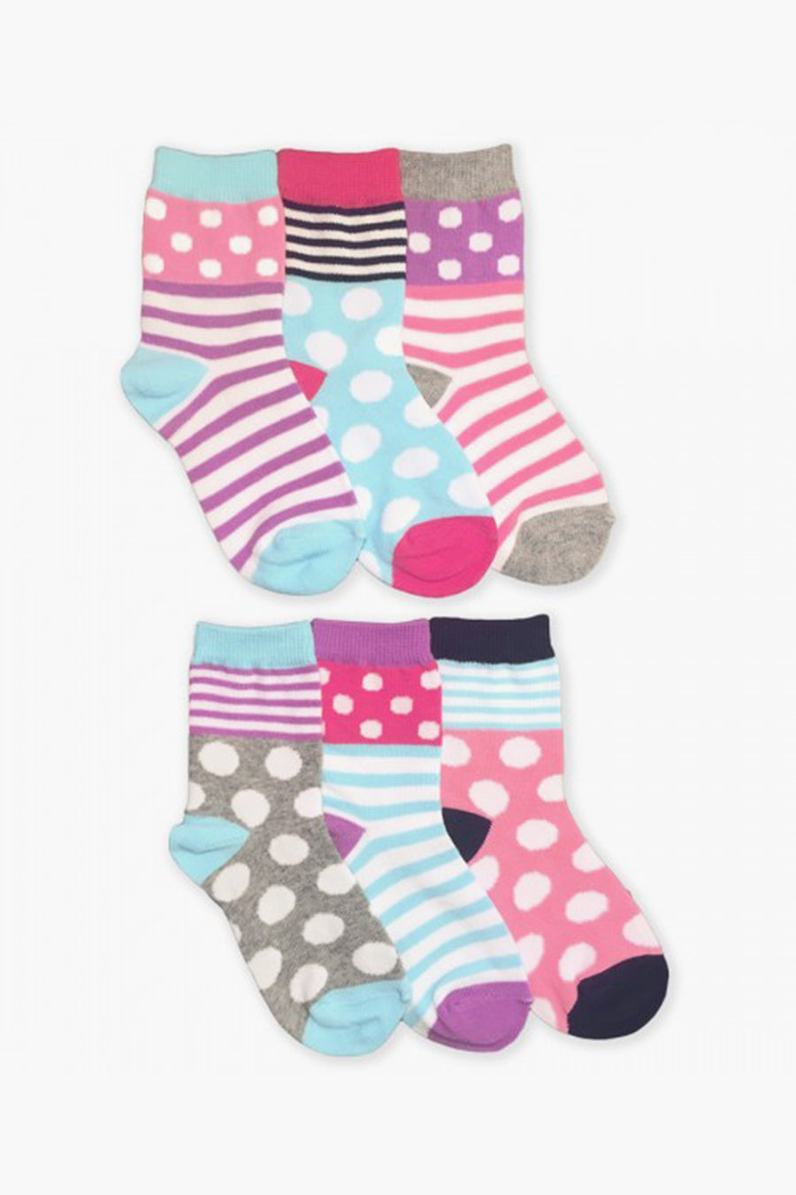 Jefferies Socks Multicolor Kids Socks 6-Pack