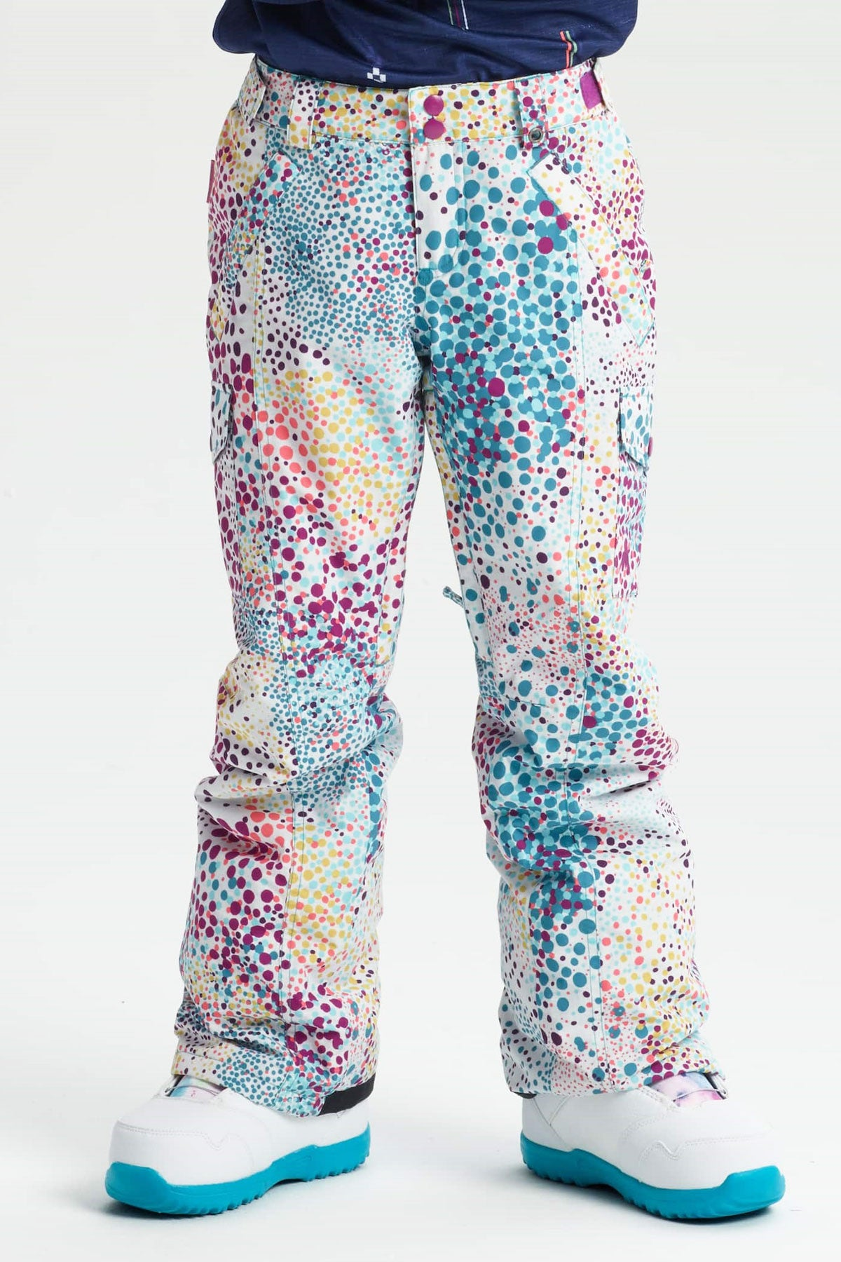Burton Girls Elite Cargo Pant - Stout White Dots
