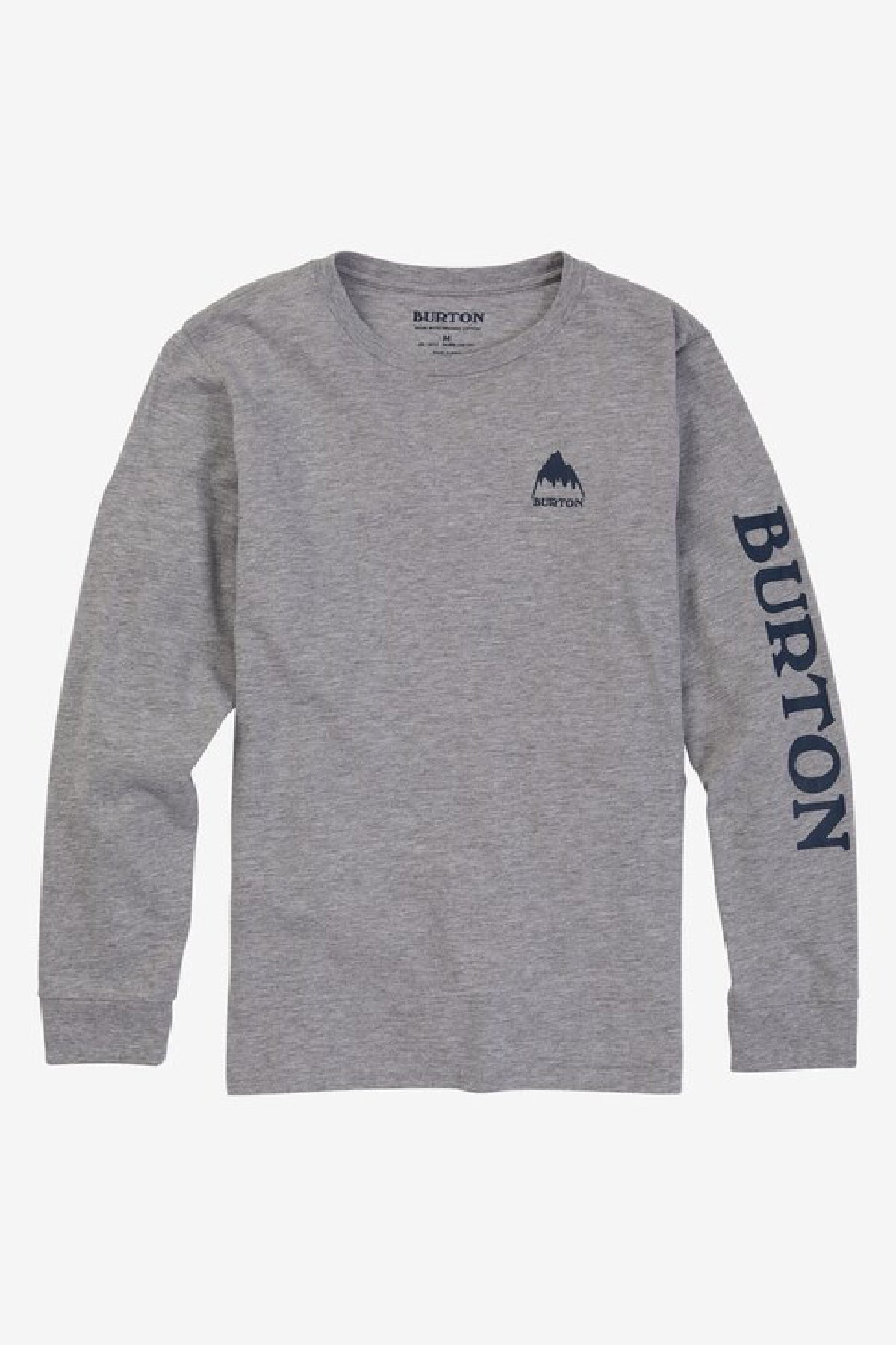 Burton Elite Long-Sleeve Kids T-Shirt - Gray Heather