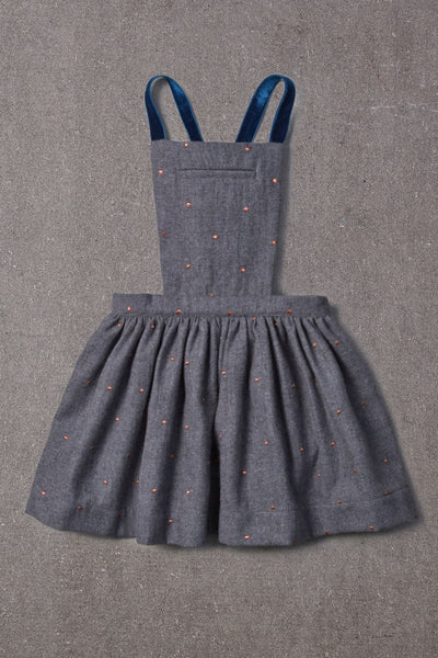 Nellystella Ella Dress - Grey Polka Dot