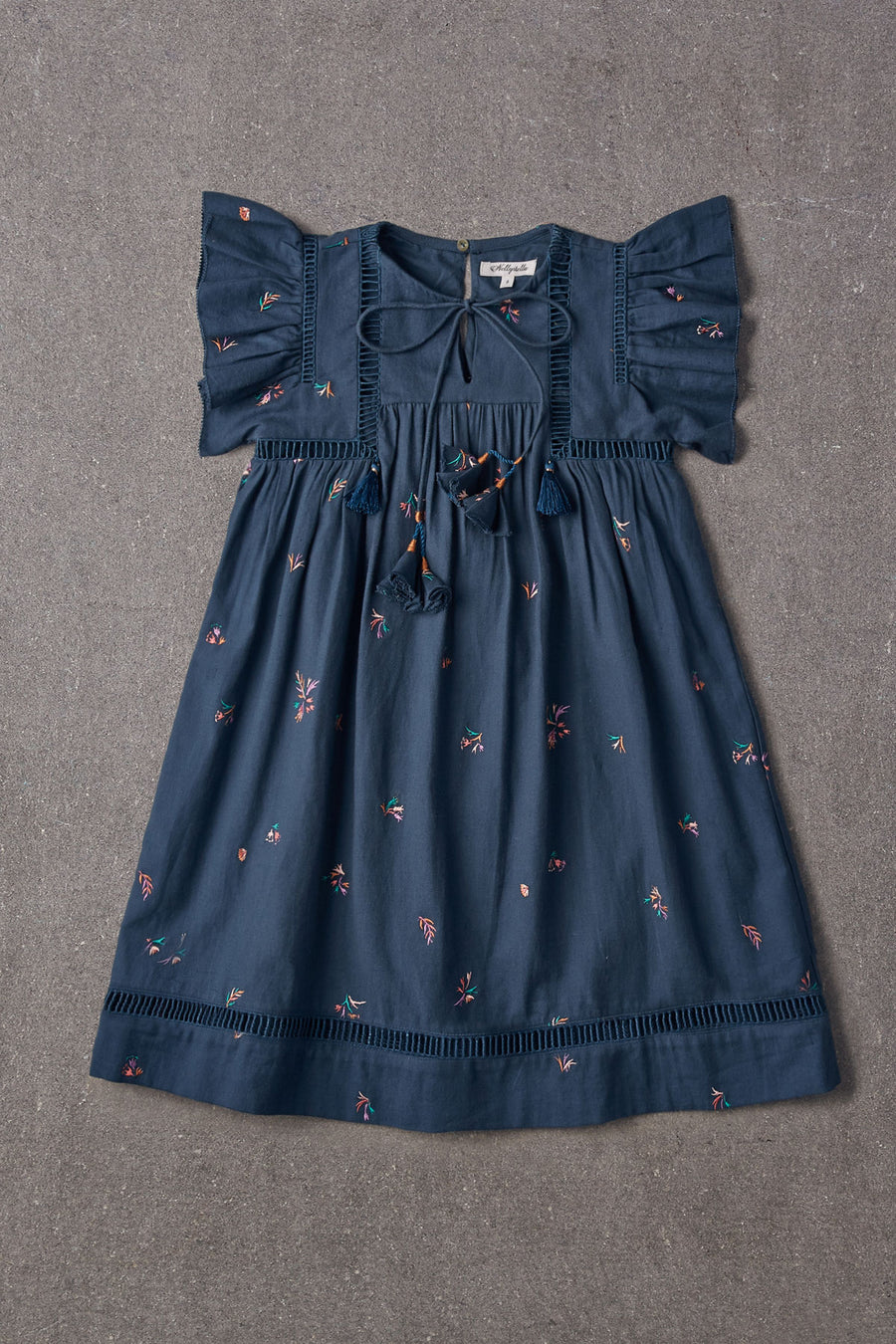 Nellystella Ester Dress - Autumn Melody Embroidery