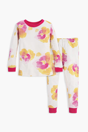 Burt's Bees Exploded Pansies Pajama Set