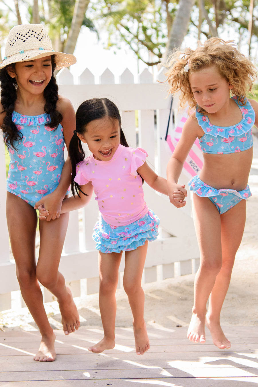 Snapper Rock Blue Flamingo Swimsuit
