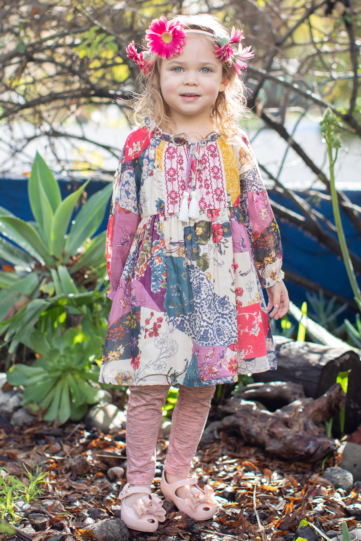 Mimi & Maggie Flora Girls Dress