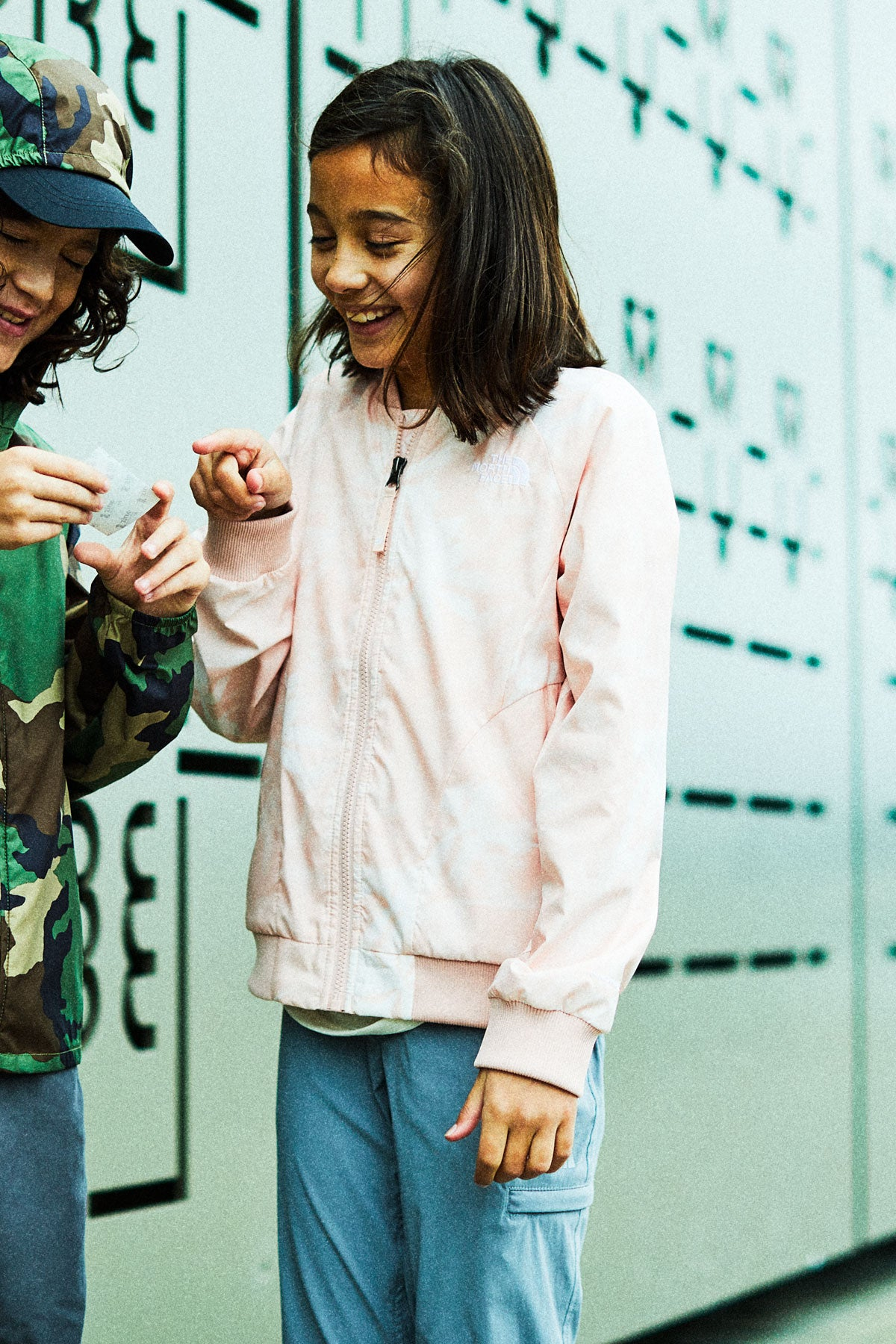 8d8d4fea6 The North Face Girls' Wind Bomber Jacket