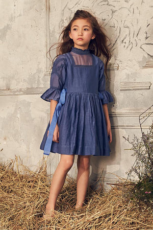 Nellystella Georgia Girls Dress - Venture Violet