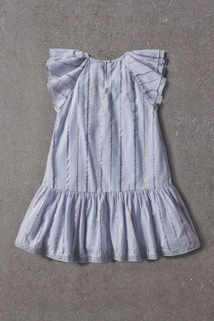 Nellystella Gracey Dress - Blue Lurex Stripe