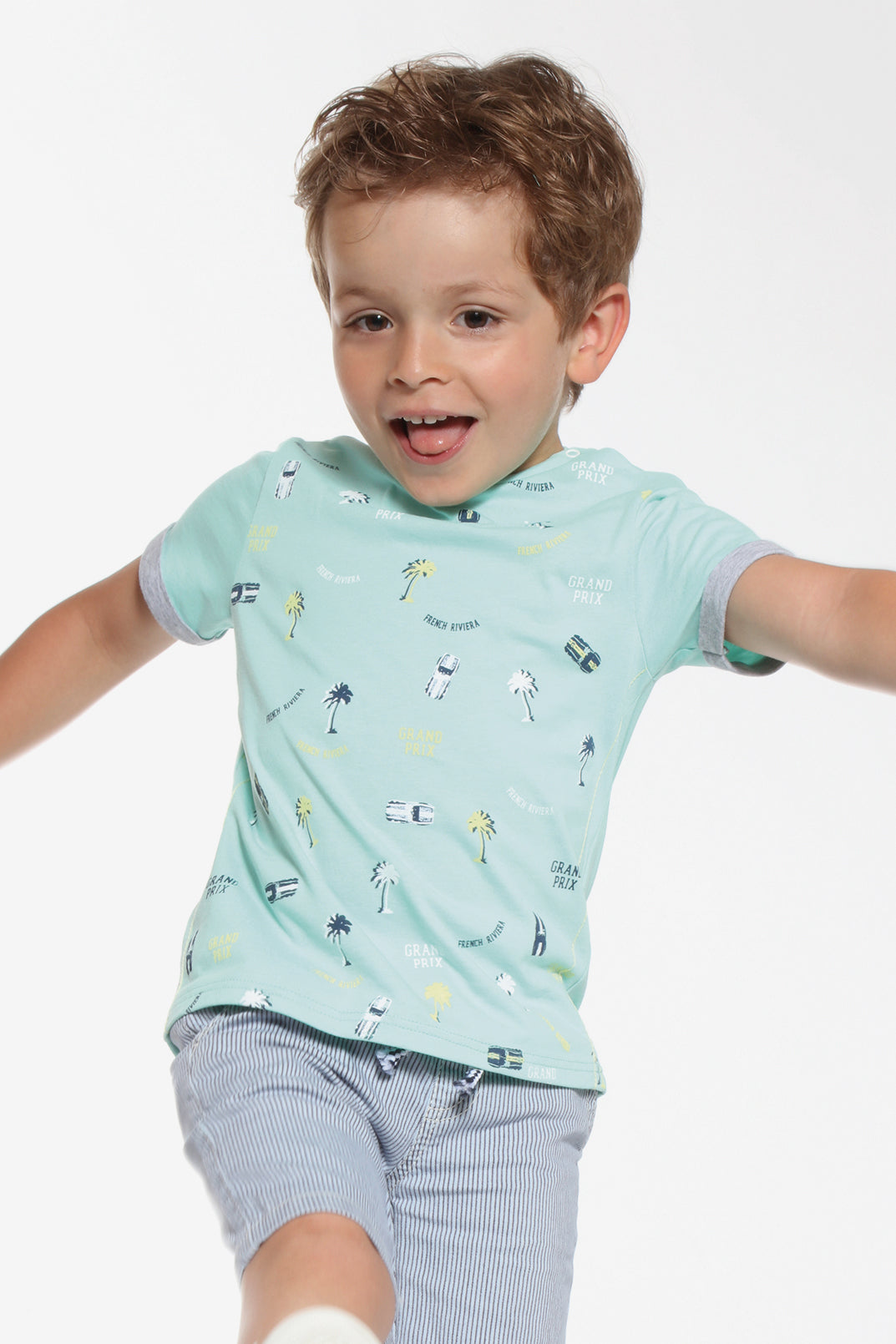 3pommes Baby Boy Light Green Tee