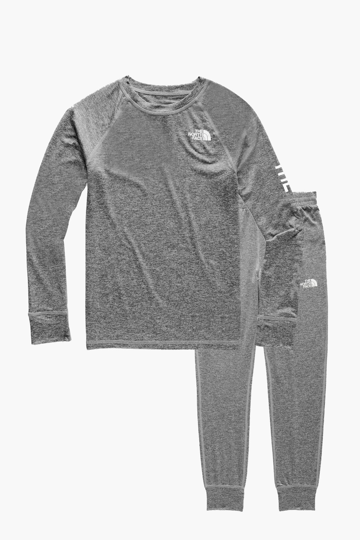 87f625528 The North Face Youth Warm Crew Baselayer Set - Heather Grey