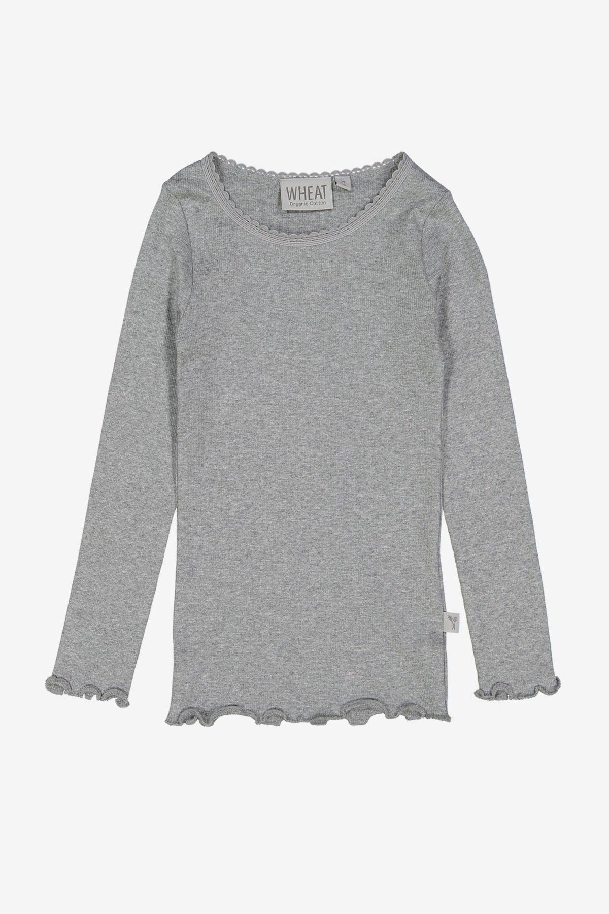 Wheat Long Sleeve Rib Tee - Grey