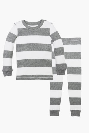Burt's Bees Rugby Grey Stripe Kids Pajamas
