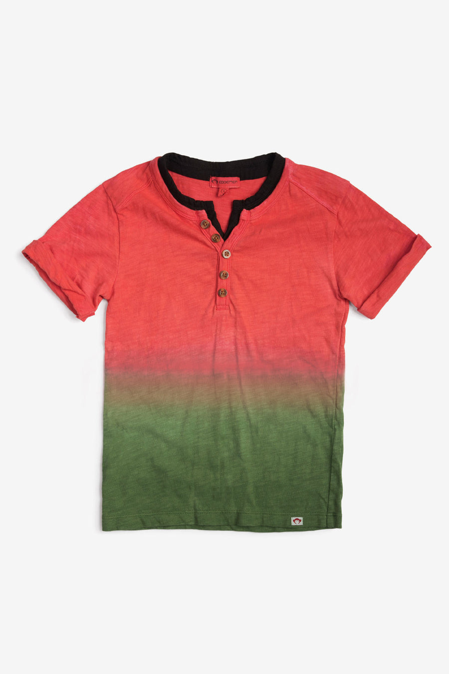 Appaman Hilltop Boys Henley Shirt - Watermelon