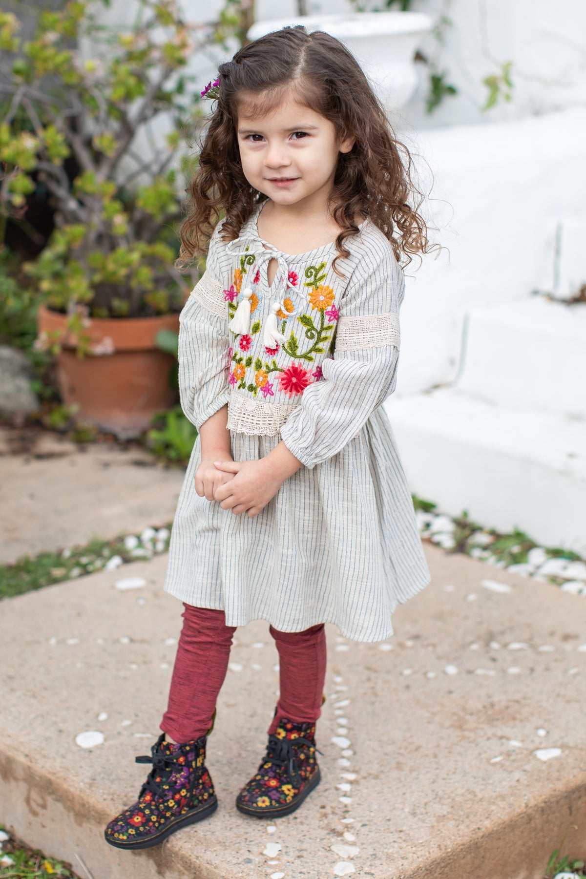 Mimi & Maggie Homespun Girls Dress