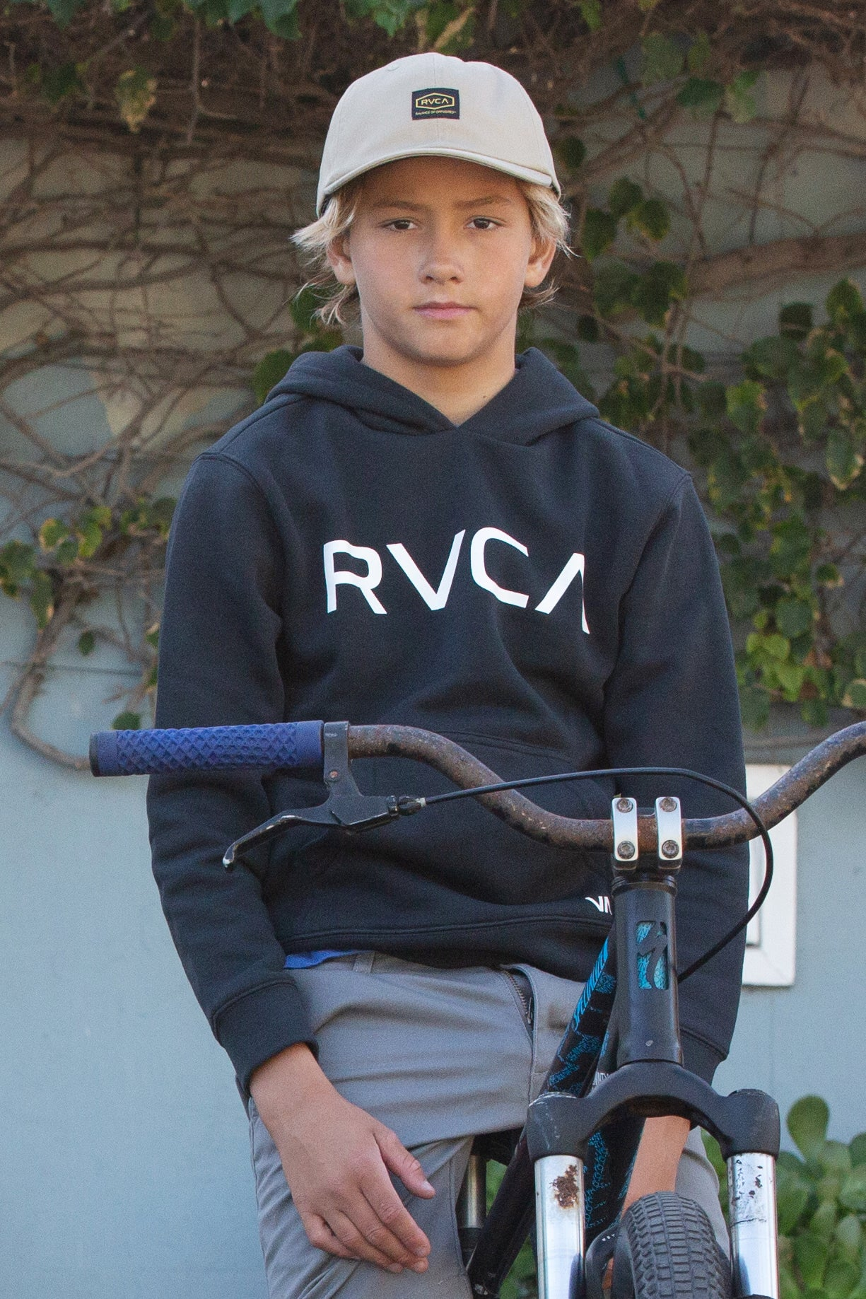 Big RVCA Boys Pullover - Black