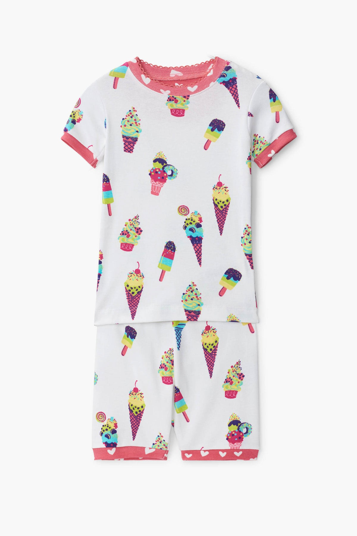 Hatley Ice Cream Cones Girls Pajama Set