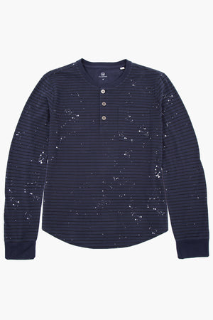 AG Jeans Kids Illustrion Blue Boys Henley Shirt