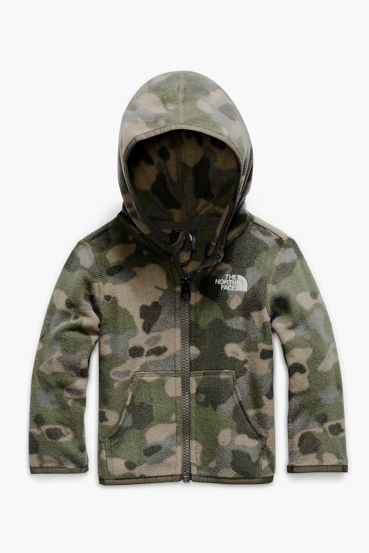 The North Face Toddler Glacier Full Zip Boys Hoodie - Burnt Olive Green (Size 6M left)