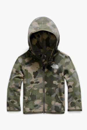 The North Face Toddler Glacier Full Zip Boys Hoodie - Burnt Olive Green