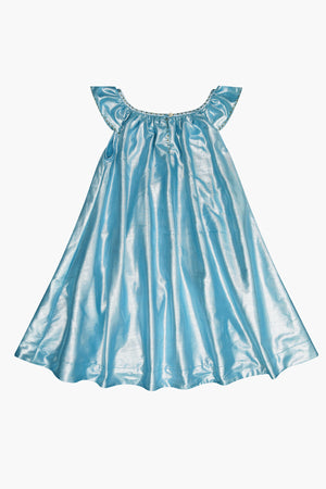Velveteen Isabella Party Dress - Aqua
