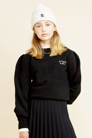 Les Coyotes de Paris Julia Black Girls Sweater