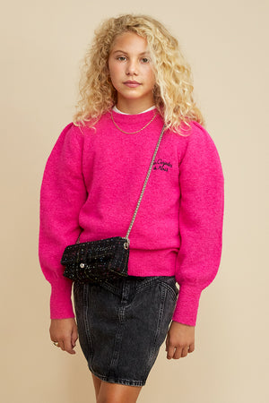 Les Coyotes de Paris Julia Fuchsia Girls Sweater