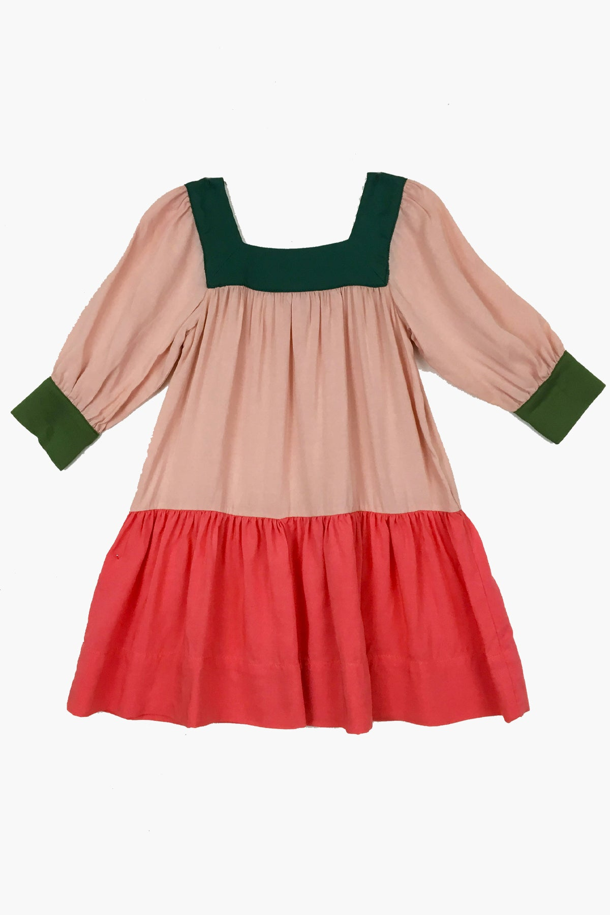 Peas and Queues Lark Girls Dress - Watermelon