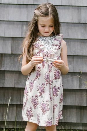 Pink Chicken Marly Lavender Floral Dress