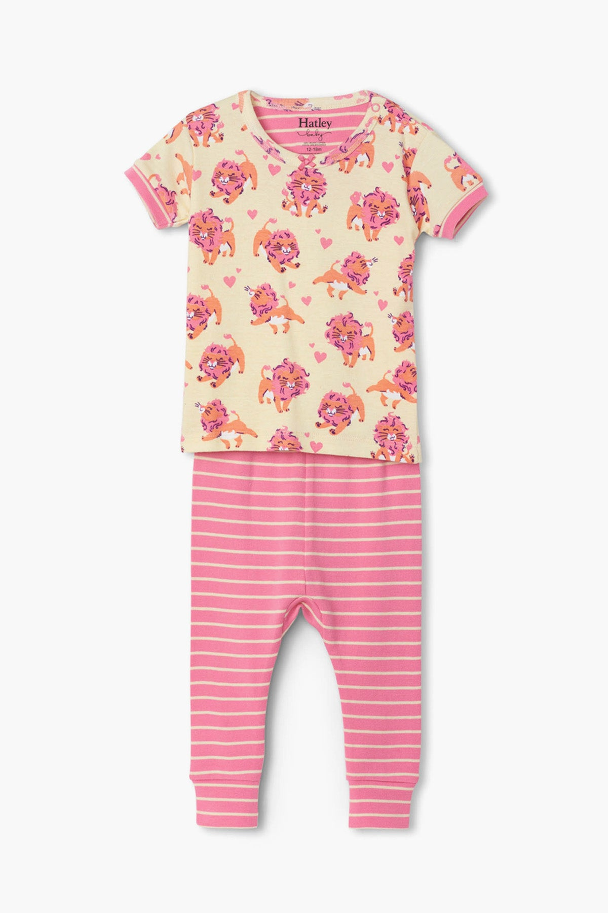 Hatley Lovely Lions Baby Girls Pajama Set