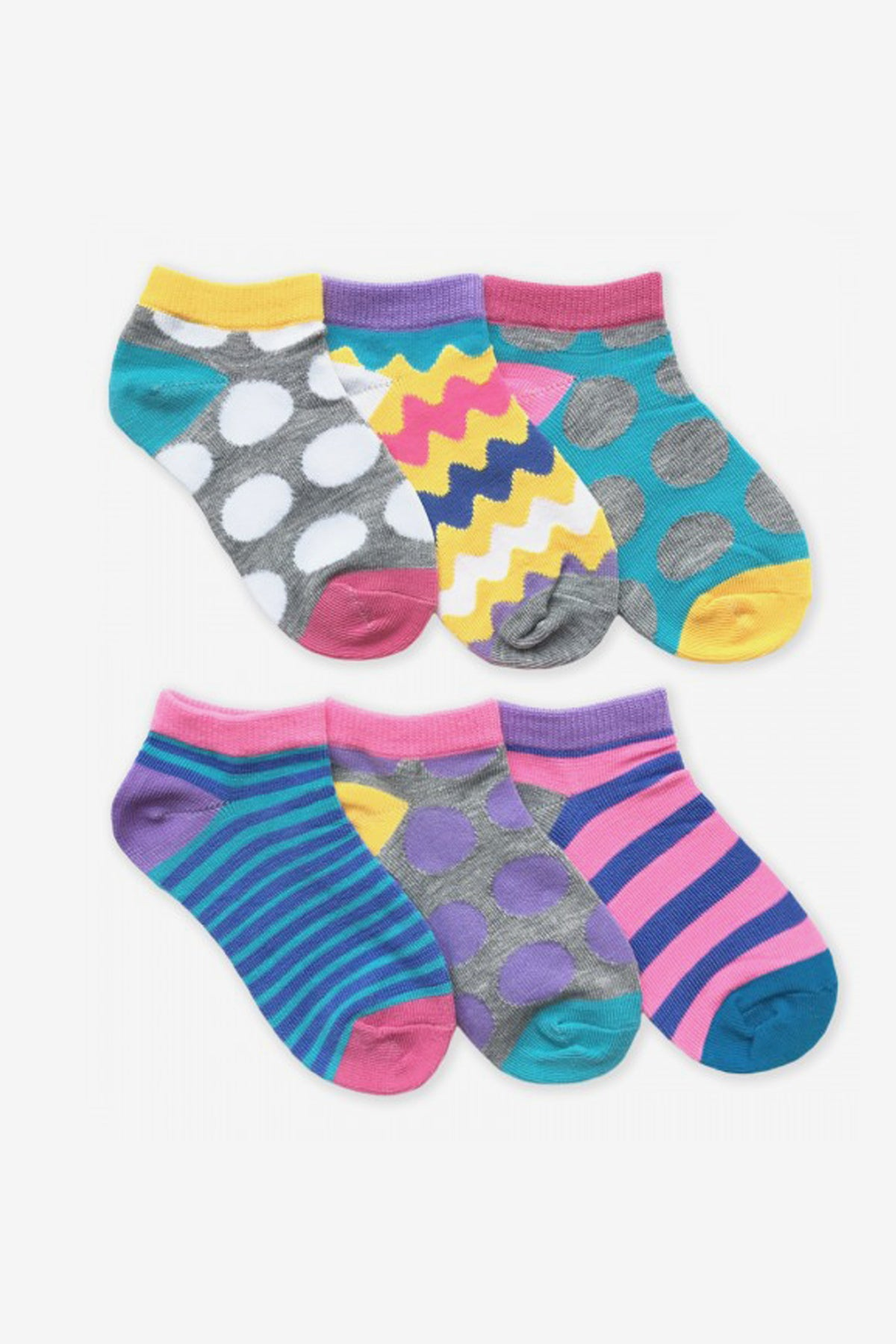 Jefferies Socks Dots And Stripes Low Cut Socks 6-Pack