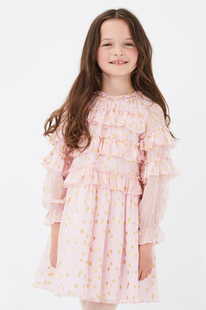 Velveteen Luna Dress - Pretty In Pink