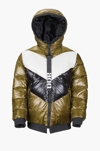 ADD Down Racer Kids Jacket - Mango