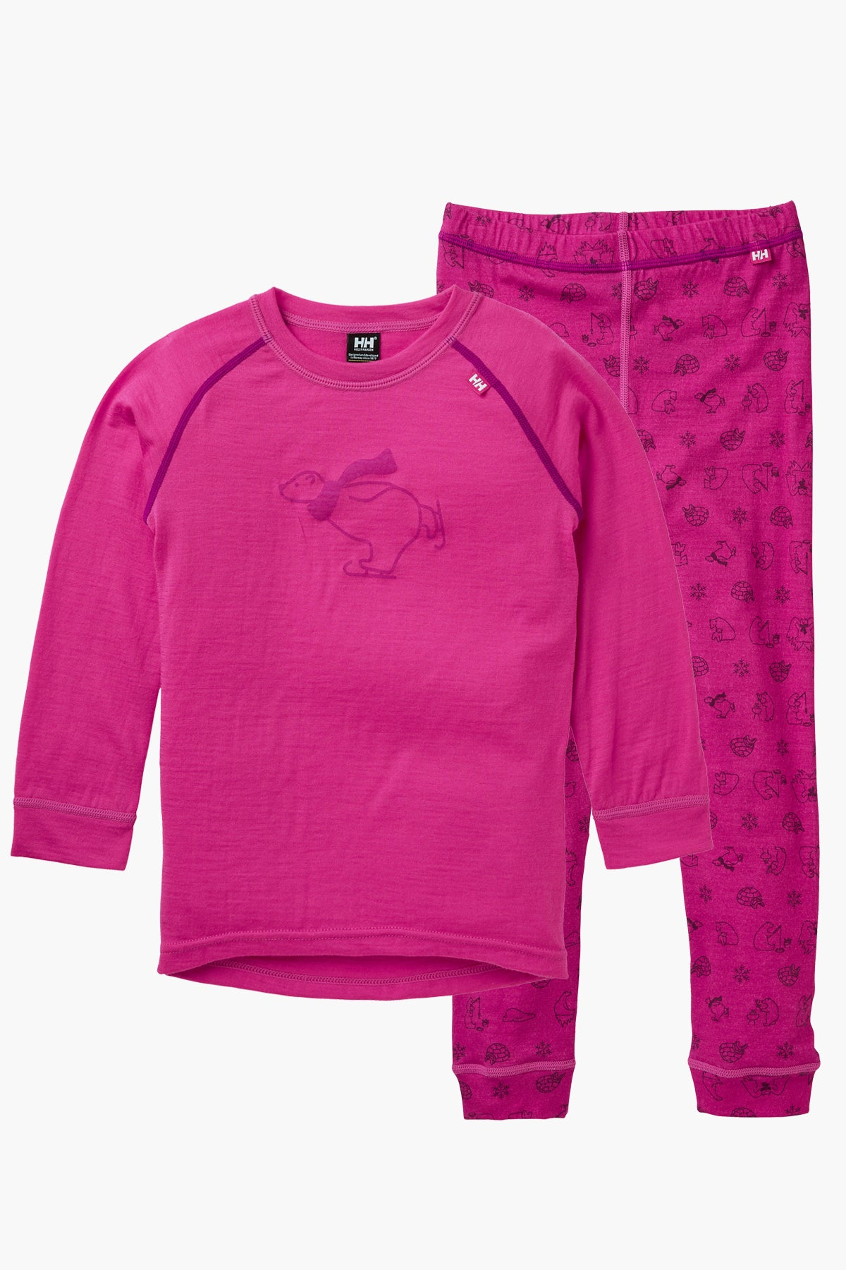 Helly Hansen Merino Mid Set - Dragon Fruit