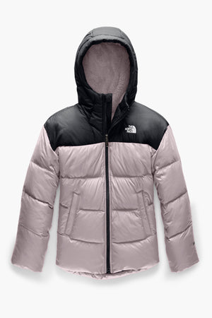 The North Face Moondoggy Down Girls Jacket - Purple/Black