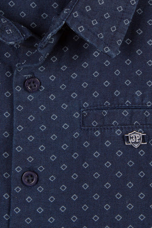 3pommes Navy Button Down Shirt
