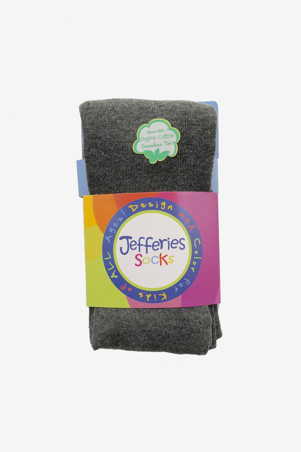 Jefferies Socks Seamless Organic Cotton Tights - Charcoal