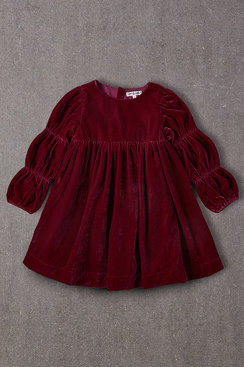 Nellystella Ottilie Dress - Red Velvet