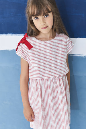 Jean Bourget Peppermint Stripe Dress