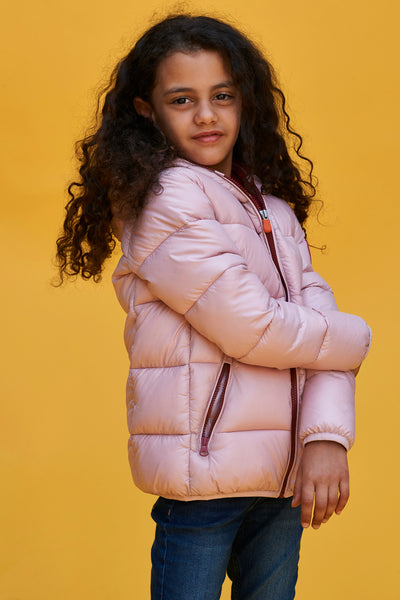 Save The Duck Blush Pink Puffy Girls Jacket