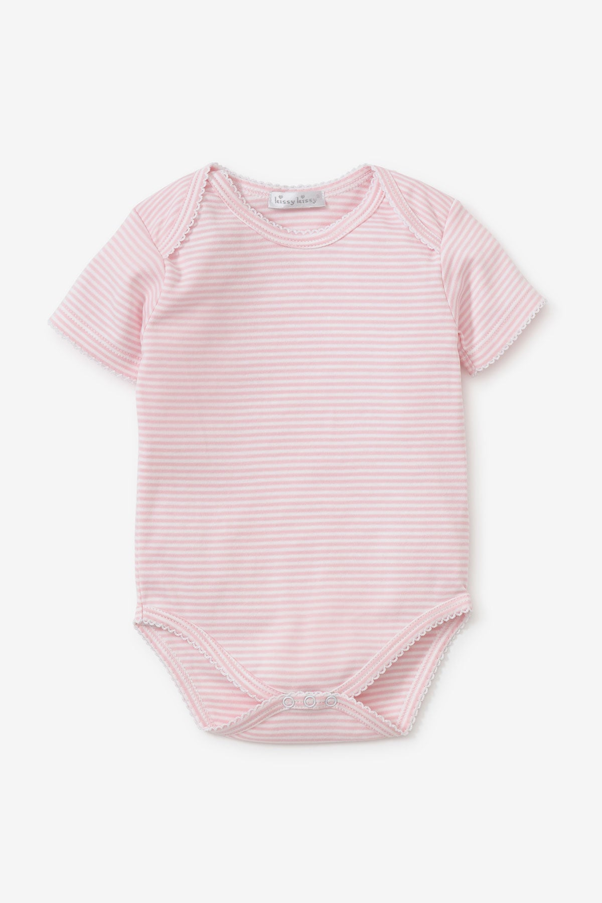 Kissy Kissy Pink Striped Basic Bodysuit