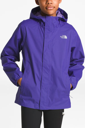 The North Face Resolve Reflective Kids Rain Jacket - Lavender