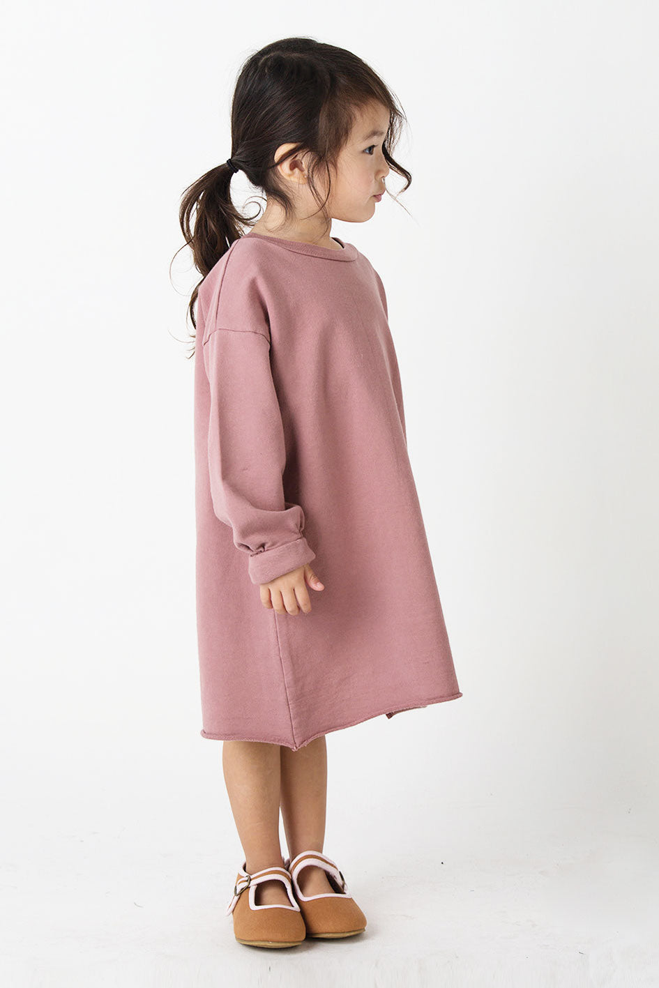 Go Gently Nation Solid Puff Dress - Cinnamon
