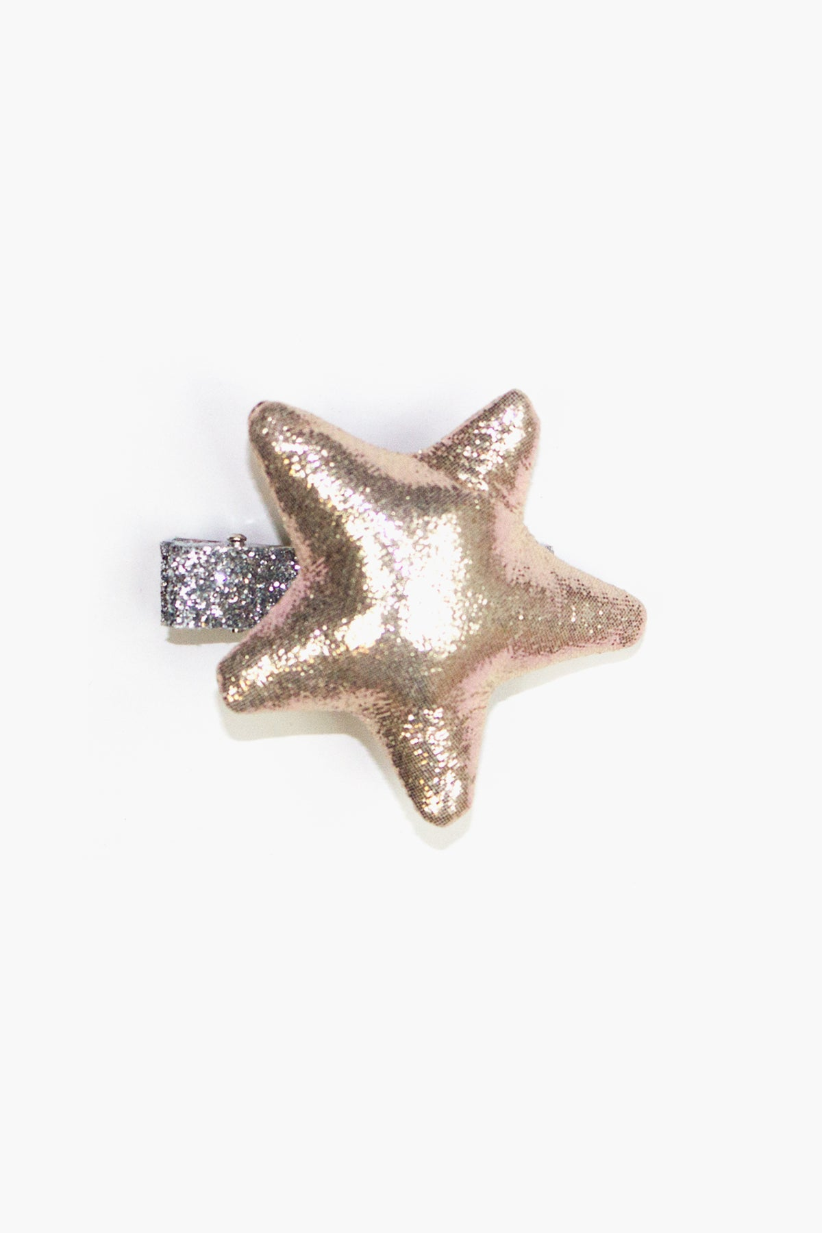 Puffy Star Hair Clip - Gold
